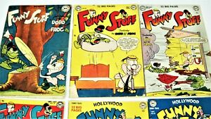 Funny Stuff-Funny Folks-Golden Age-7 Book Lot
