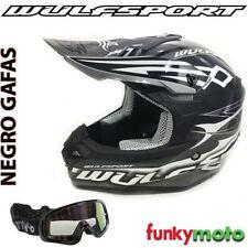 Cascos Enduro/Motocross color principal negro de motocross y quads para conductores