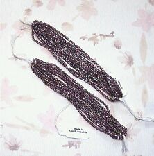 1200 pcs. 24 Strands / Two Hanks Czech AB Metallic Faceted Amethyst 3mm Beads