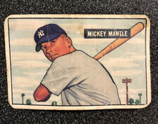 1951 Bowman Mickey Mantle Rookie Card,#253,Yankees,ungraded