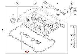 Rocker Cover Gasket Set Genuine Mini R56 Cooper S Clubman  11127572851
