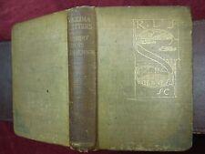 ROBERT LOUIS STEVENSON to SIDNEY COLVIN: VAILIMA LETTERS/SAMOA PACIFIC/1895