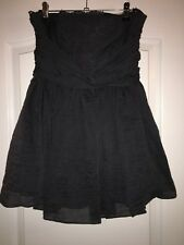 Navy Strapless Dress With Lace Underlay Topshop Size 10 Petite