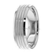 Mens Wedding Bands Rings Womens Wedding Rings 10K Gold Mens Womens Milgrain Ring