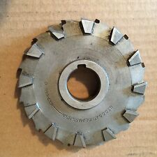"""STAGGERED TOOTH HS STEEL SIDE MILLING CUTTER 6"""" X 7/8"""" X 1 1/4"""" ONE TOOTH CHIP"""