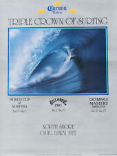 Mint 1987 Triple Crown Hawaii Surfing Contest Official Surf Surfboard Art Poster