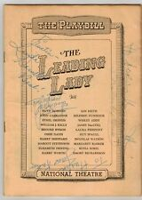Vintage Playbill - THE LEADING LADY - Darnell Dietrich Cooper Kean - AUTOGRAPH