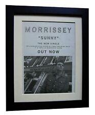MORRISSEY+Sunny+POSTER+AD+RARE ORIGINAL 1995+QUALITY FRAMED+EXPRESS GLOBAL SHIP