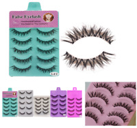 Long Thick Cross 5Pairs Makeup Beauty False Eyelashes Eye Lashes Extension /Y