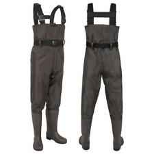 Waterproof Hunting Fishing Waders Nylon PVC 2-Ply Cleated Bootfoot Chest Waders