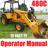 Case 480C Loader Backhoe Tractors 480 C Owner Operators Manual Construction K CD