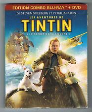 LES AVENTURES DE TINTIN - LE SECRET DE LA LICORNE - COMBO DVD / BLU-RAY NEUF NEW
