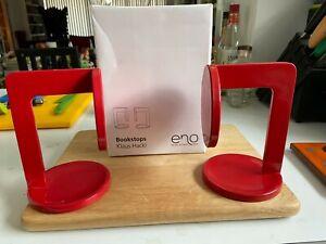 Klaus Hackl Red Bookends Eno Studio France Conran designer book ends new in box