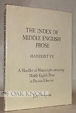 James Simpson / Manuscripts Containing Middle English Prose In Parisian 1989