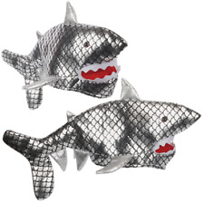 ADULT SILVER SHARK HAT FUNNY JAWS KILLER FISH MARINE ANIMAL COSTUME ATTACK BITE