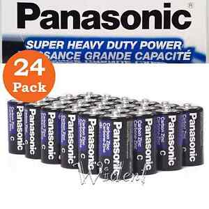24Pk Panasonic Battery C Size Super Heavy Duty Power Zinc Carbon  SHIP FREE PR