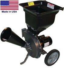 "ELECTRIC WOOD CHIPPER & SHREDDER - 1.5 HP - 110/120 V - 13.4 Amps - 2 1/2"" dia"