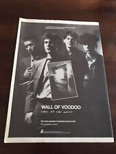 "1982 Vintage 8X11 Promo Print Ad For Wall Of Voodoo New Album ""Call Of The West"""