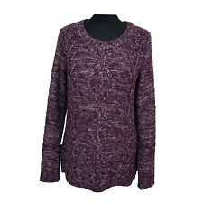 MOUNTAIN WAREHOUSE Jumper Size 12 Purple White Casual Walking Hiking Everyday *