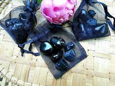 """36-Pochette""""Protection supérieure""""Spinelle noire-Obsidienne noire-Esotérisme"""