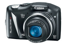 CANON POWERSHOT SX130 IS 12.1 MP MEGA PIXELS DIGITAL HD CAMERA VIDEO PHOTO 12x