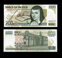 MEXICO 200 PESOS 1995 P 109 SERIES A UNC