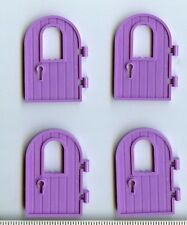 LEGO x 4 Medium Lavender Door 1 x 4 x 6 Round Top with Window and Keyhole
