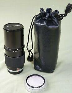 Vintage Olympus OM-System Zuiko Auto-T 200mm f4 Lens Hoya 1B Filter & Case