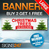 Large CHRISTMAS TREES NOW ON SALE waterproof PVC banner sign (YB003)