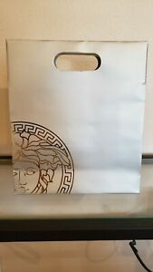 Versace Medusa Shopping Bag (Make Up) Silver Bag & Gold Logo