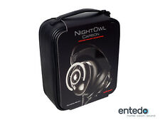 AudioQuest Nightowl Over-Ear Kopfhörer Carbon Ohrhörer Headset Mikrofon NEU