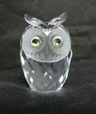 SWAROVSKI SILVER CRYSTAL RETIRED  OWL IN BOX          (TR)