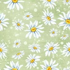 5  x  Paper Party Daisies Green Decoupage flower Napkin Art