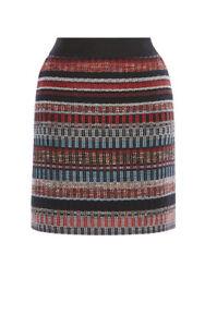 Karen Millen Multicoloured Italian Tweed Skirt UK Size 12