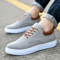 Men's Flats Sports Shoes Casual Breathable Low Top Sneakers Comfortable Lace Up