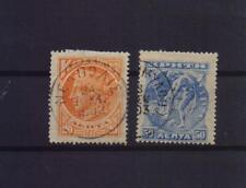 GREECE CRETE 1901 20 & 50  LEPTA USED STAMPS