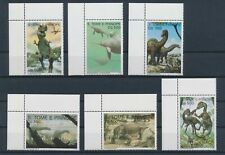 LM34141 Sao Tome e Principe prehistoric animals dinosaurs corners MNH