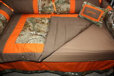 Real tree orange  Camo   Baby bedding set-free personalized pillow