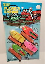 Vintage Plastic Harbor Boats & Docks Toy, Unopen Pack, New Old Store Stock.
