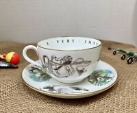 """Royal Worcester Fine Bone China Cup/Saucer """"Very Important Person"""" Fly Fishing"""