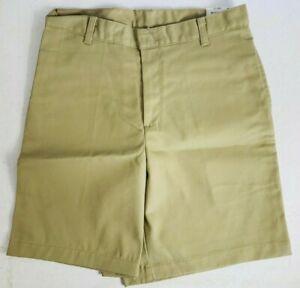 K12 Gear Boys School Uniform Shorts NWT 6446MN Khaki or Gray Mens 30/33/34 UNI22