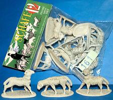 12 ALTE PLASTIK SCHAFE BEUTEL WEIHNACHTSKRIPPE ADVENTSZEIT WUNDERTÜTE 70s ITALY
