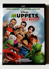 Ricky Gervais Ty Burrell Tina Fey Kermit Frog Disney The Muppets Most Wanted DVD