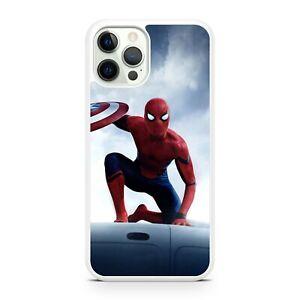 Spiderman Superhero Captain America Shield Avengers Comic Phone Case Cover