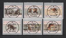 1996 Australia Hillarys Counter Printed Set Six fu Koalas & Roos round cancel