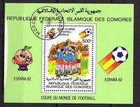 0125++COMORES  BLOC  COUPE DU MONDE DE FOOT  1982