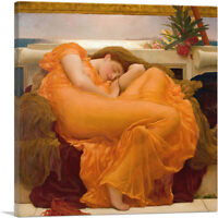 ARTCANVAS Flaming June 1895 Canvas Art Print by Frederic Leighton