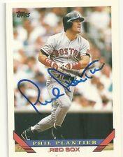 Phil Plantier Boston Red Sox  Personally Autographed Card