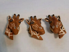 New listing 3 Vintage Giraffe or Reindeer Plastic Button Covers - great condition