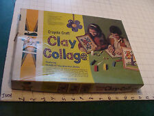 Orig. Vintage Toy: CLAY COLLAGE crayola craft - 1977 in box - RARE -